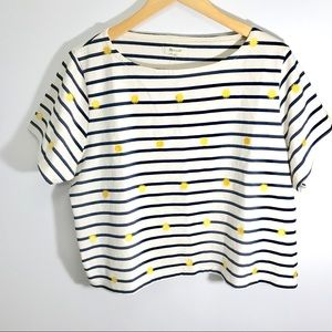 Madewell Sun Embroidered Striped Top XL